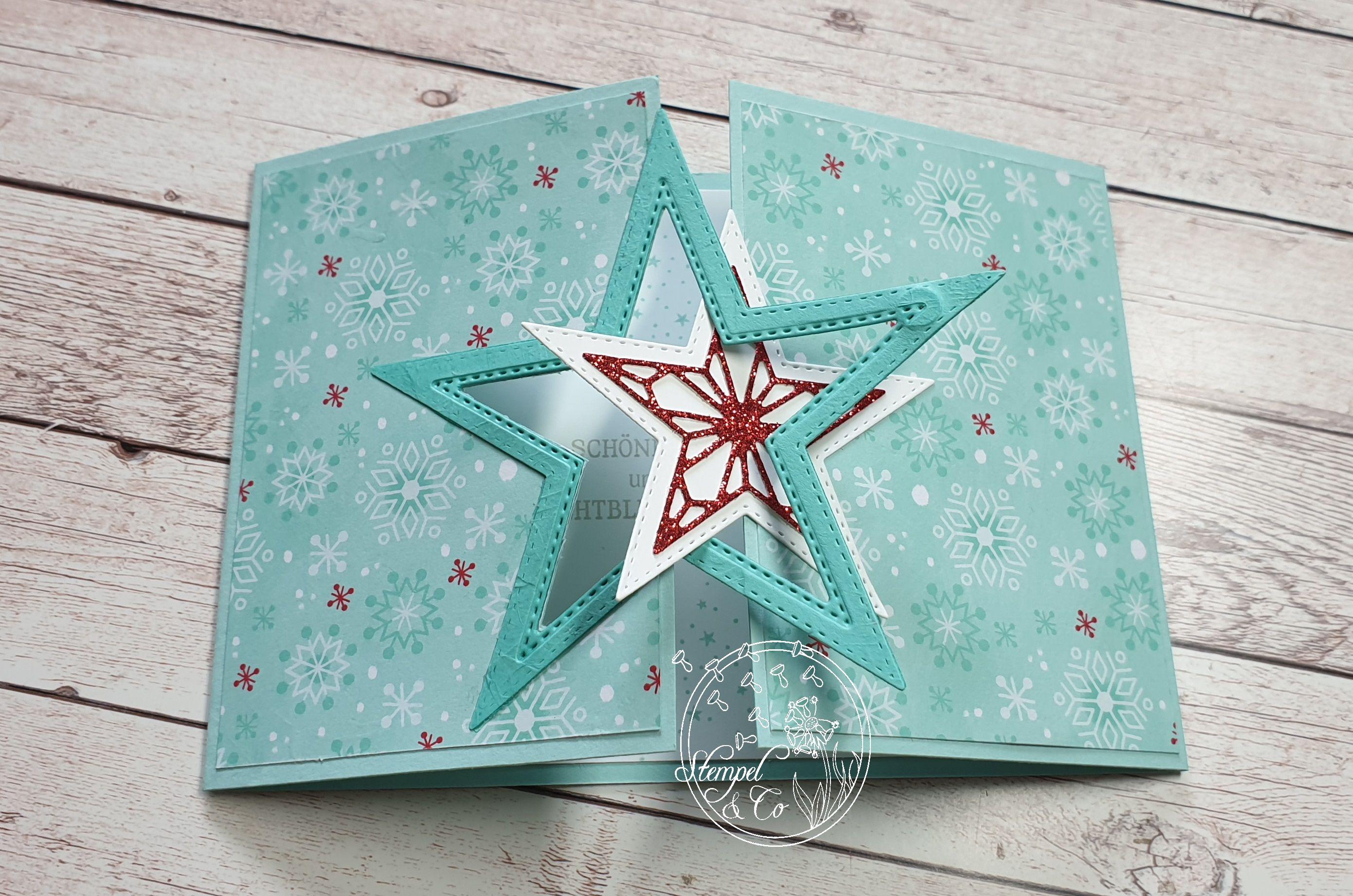 Stampin´Up! Weihnachtskarte mit Sternverschluss