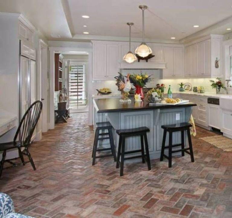 25 Brick Floor Kitchen Ideas 17 Furniture Inspiration Brick Floor Kitchen Brick Kitchen Kitchen Flooring