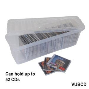 Nice Clear Plastic Dvd Storage Boxes