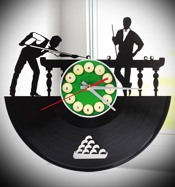 Flash Fans Clock Vintage Vinyl Home Decor Wall Art Gift Nursery Design Record