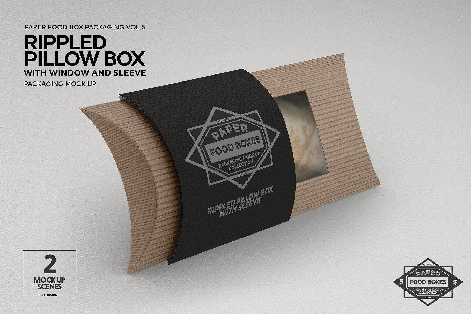 Download Vol 5 Food Box Packaging Mockups Food Box Packaging Pillow Box Packaging Mockup