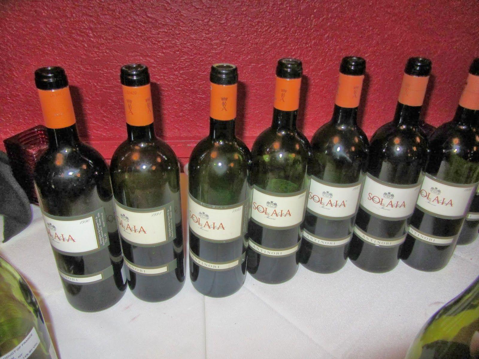 Wine Mise En Abyme 15 Vintage Solaia Tasting 1982 2009 Vintage Wine Bottle Wine