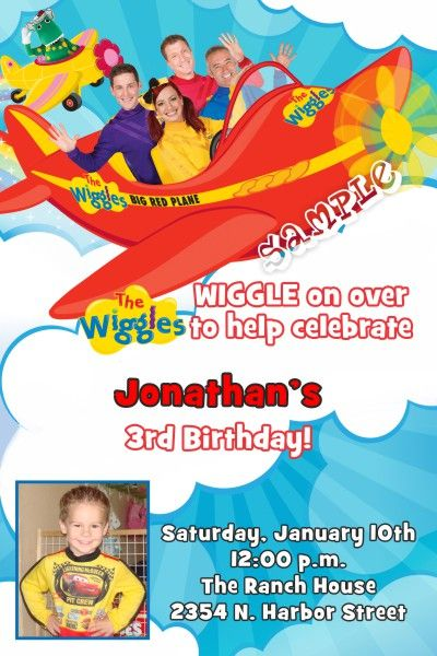 Wiggles Birthday Invitations - Digital Download - Get these - create invitations online free no download