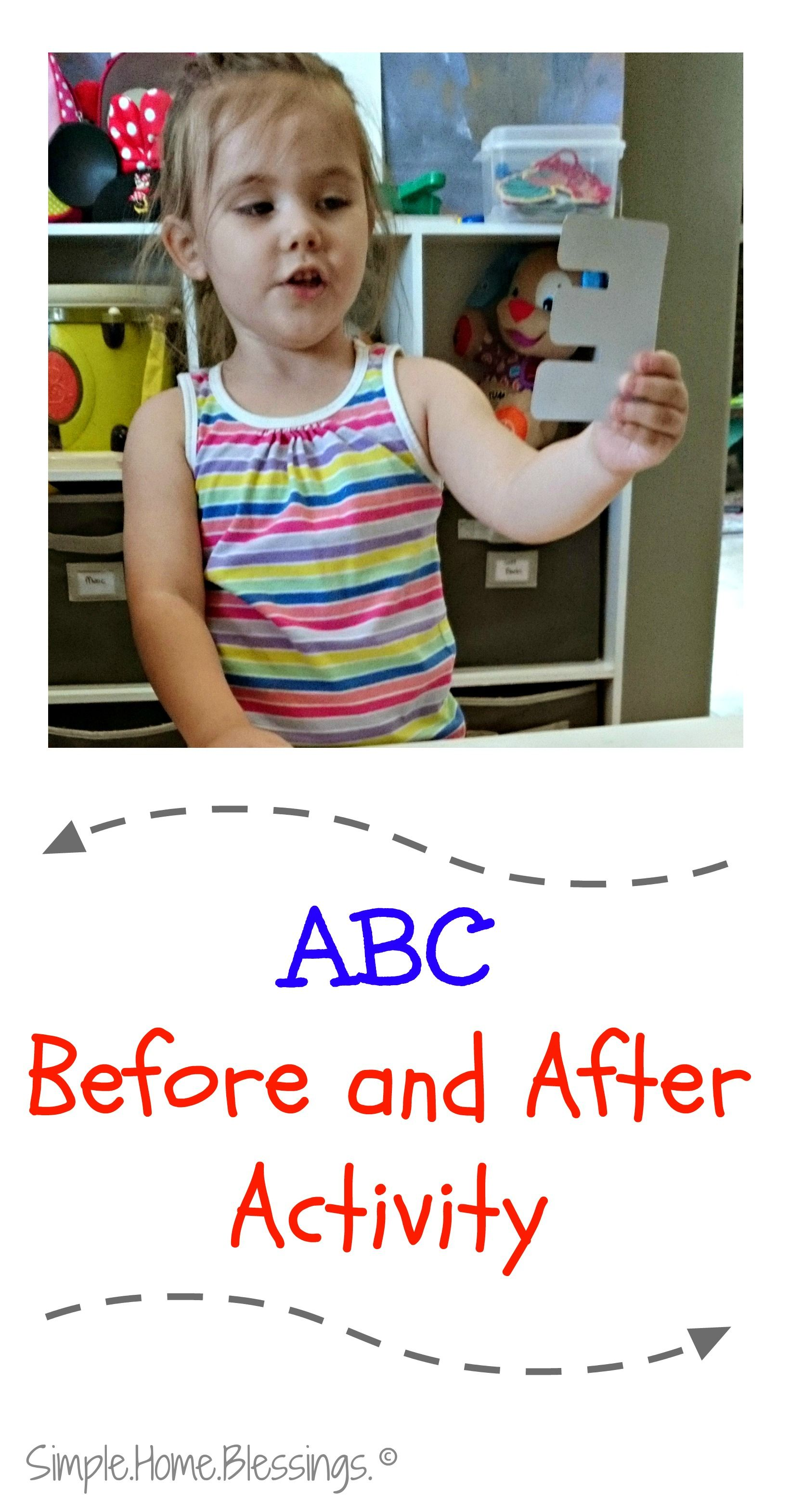 Simple Alphabet Sequencing activity for Preschoolers a game