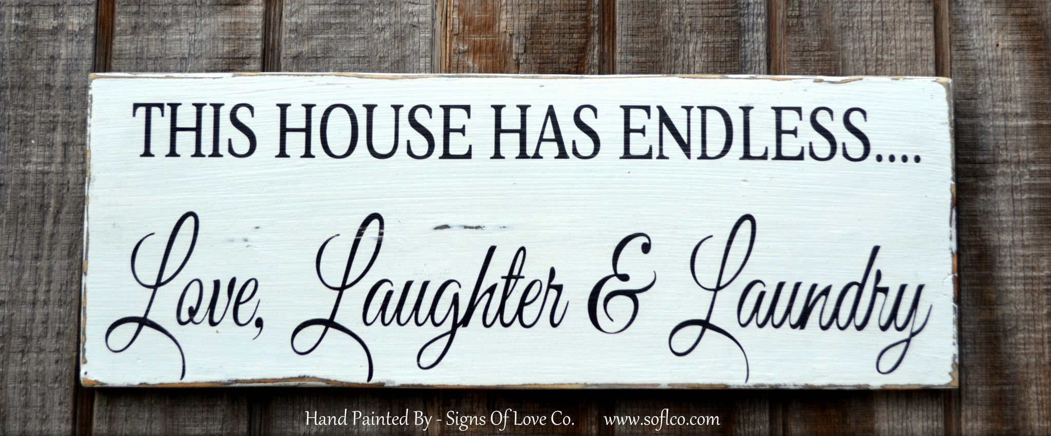 Laundry Room Rustic Home Décor Sign Carova Beach Crafts Quotes Endless Love Laughter Laundry Custom House Address Door Hanger Wooden Signs Farm House C