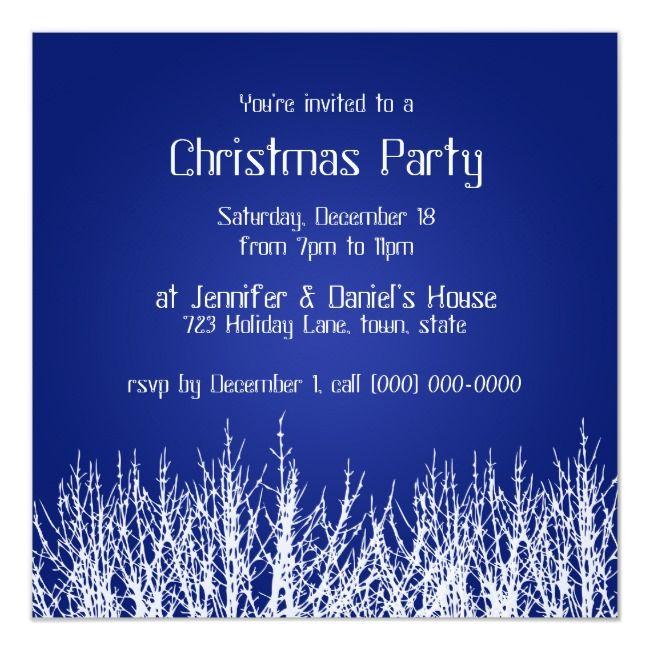 Christmas Party Invitations Blue White Invites    Christmas Party Invitations Blue White Invites Affiliate