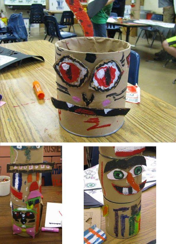 Aimee Fresia es una profesora de Arte de Kansas City, con sus pequeños artistas han creado estos magníficos TOTEMS pintados con PLAYCOLOR, para la fiesta tradicional de potlatch, una fiesta que hacen los grupos de Nativos (indígenas) de Alaska. Antiguamente duraban días y solían ser para celebrar algún acontecimiento importante.¡Impresionantes! ¡Nos encantan! http://onehappyartteacher.blogspot.com.es/