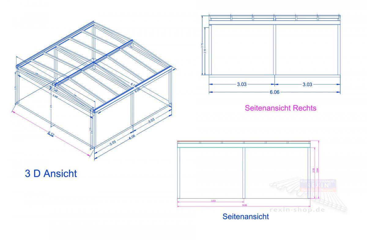 Rexoport Alu Carport Bausatz 6 13m X 6 06m In 2020 Garage Design Decorative Boxes Shopping