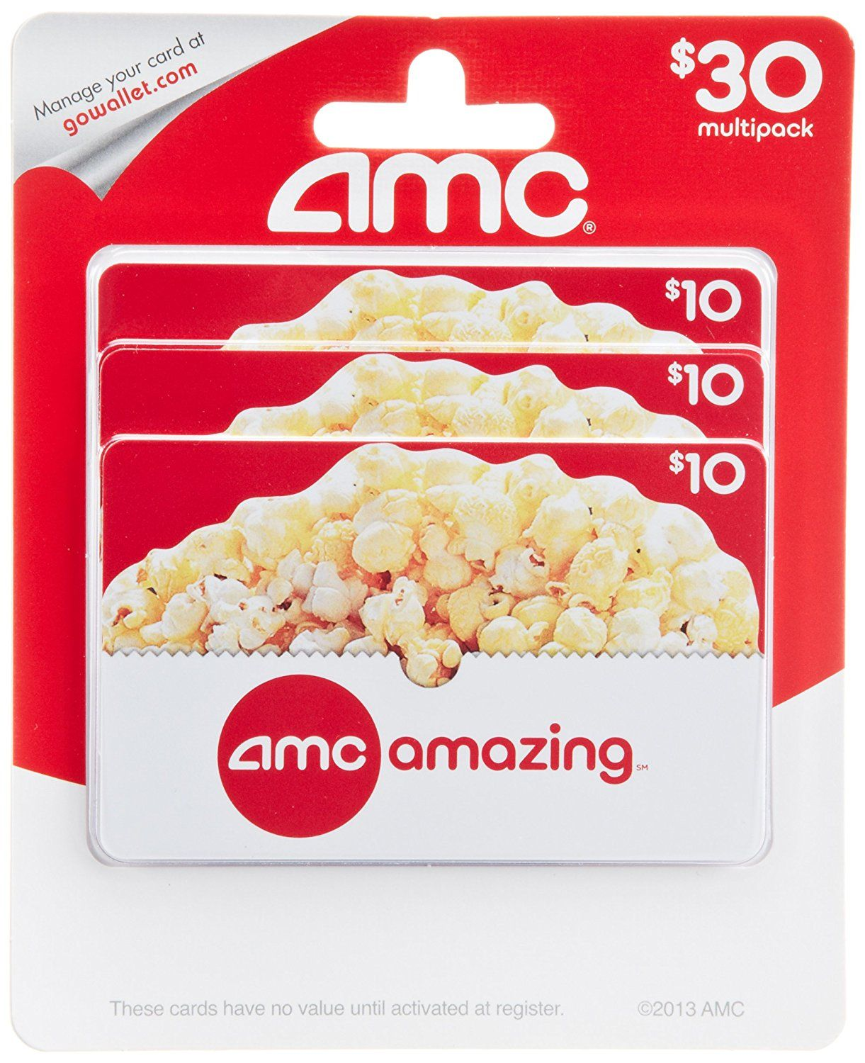 Amc theatre gift cards multipack of 3 additional