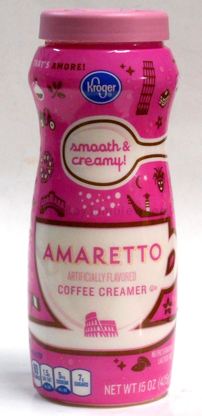 Kroger Amaretto Flavor 15 Oz Powdered Hot Coffee Drink Creamer Non
