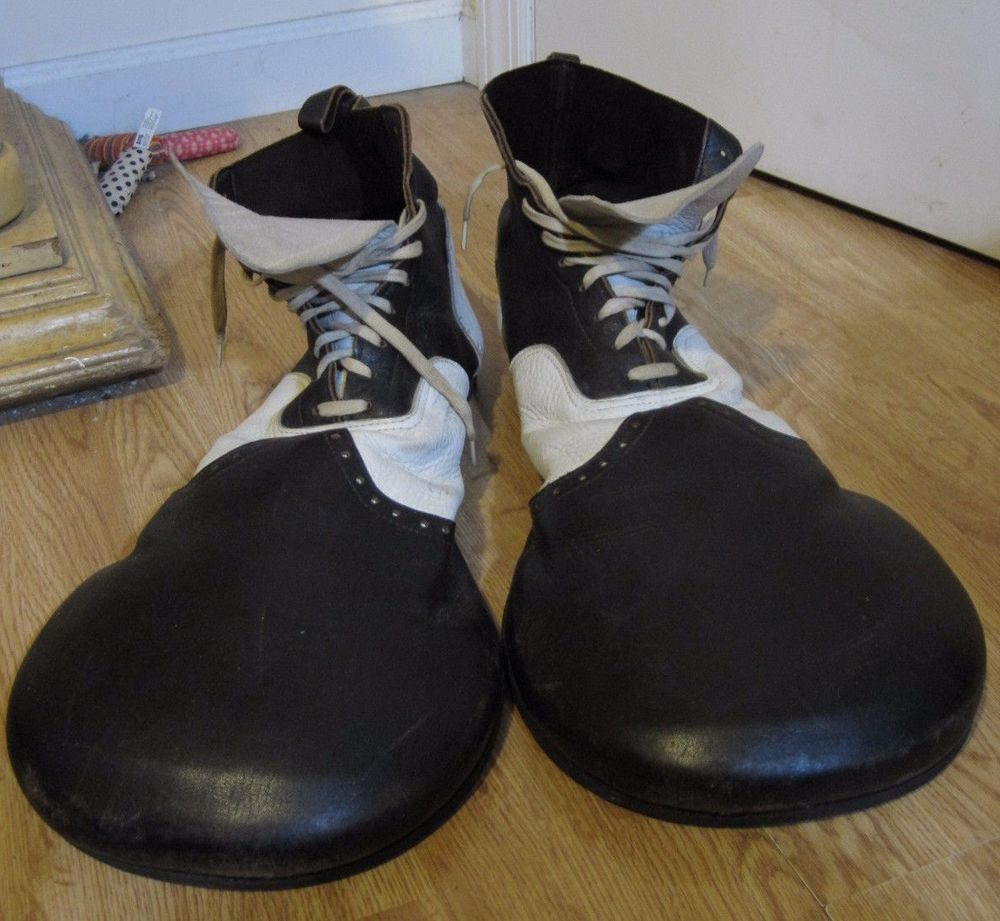 Vintage Leather Red Clown Shoes