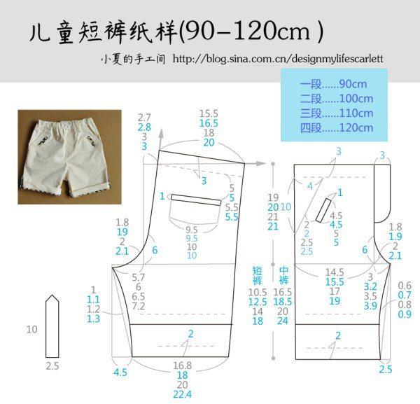 como hacer shorts para niños con moldes   ricuras de carmen   Sewing ...