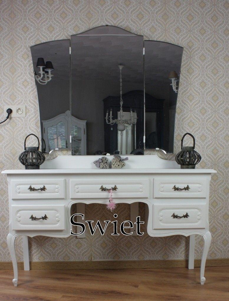 6356 Brocante Queen Anne Ann Witte Kaptafel Commode Swiet