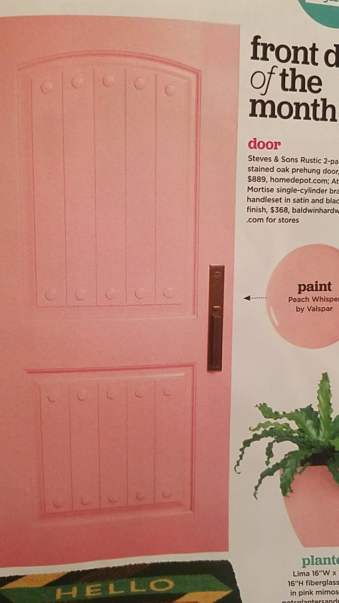 Dream door. Peach Whisper by Valspar | Dream home in 2018 ...
