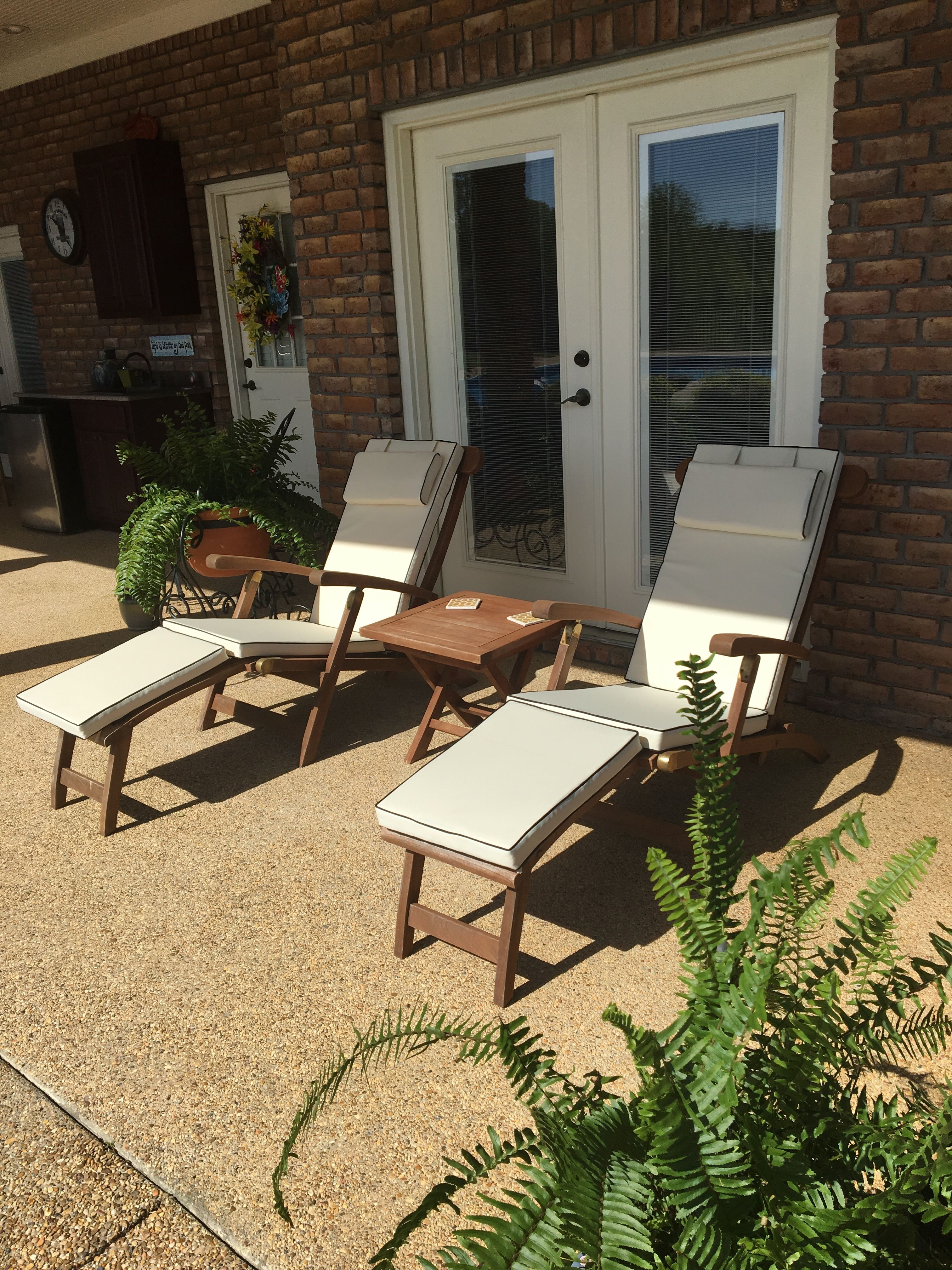 Janell From Vicksburg, MS Shared This Photo Of Her Teak Titanic Steamers  The Porch. Thanks Janell!
