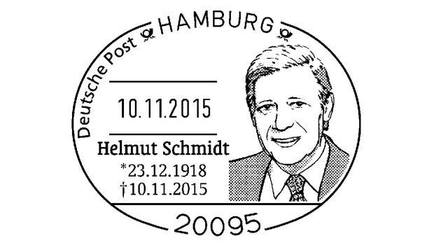 Sonderstempel für Helmut Schmidt Deutsche post ag