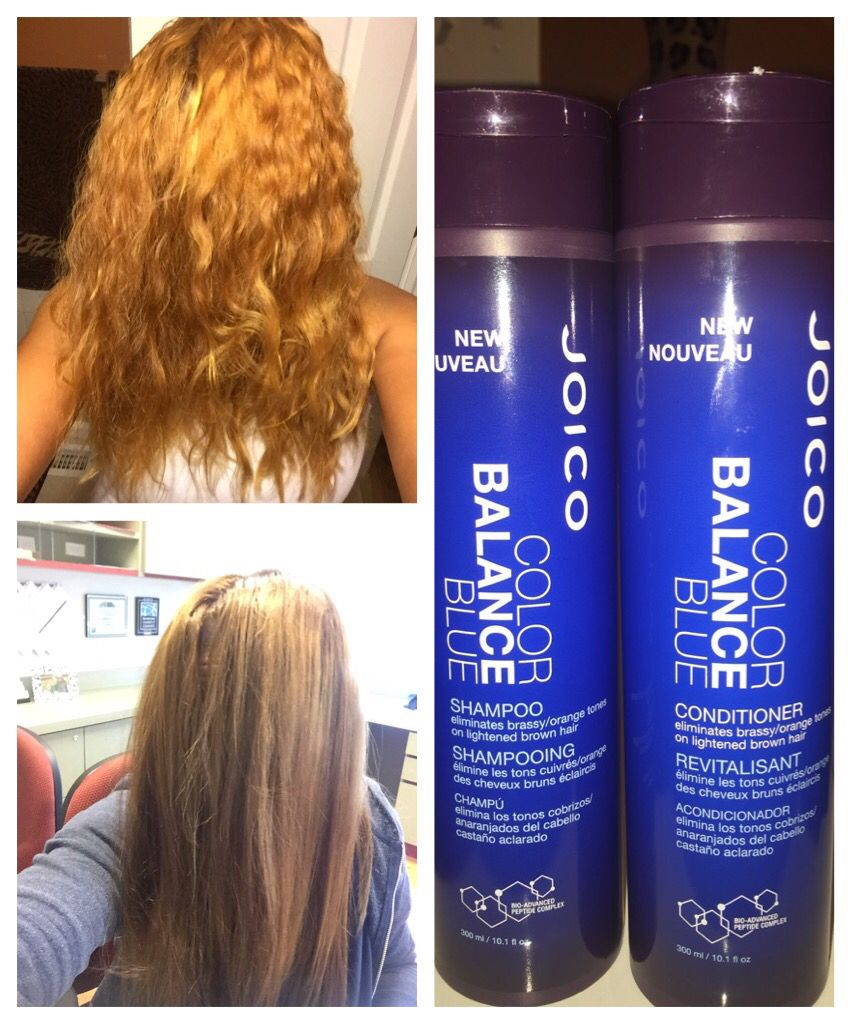 Joico S Blue Shampoo Helps With Toning Your Hair To Cancel Out Any Brassy Yellowish Or Orange Undertones Caused By Bleached Shampoo Bleached Hair Brassy Hair