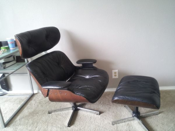 Eames Style Plycraft Lounge Chair & Ottoman 550 Eames