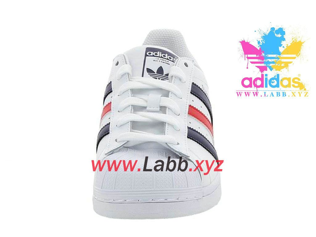 online store f6671 764a9 Adidas Chaussures Homme Femme Originals Superstar Foundation Blanc S79208  Adidas Pas cher