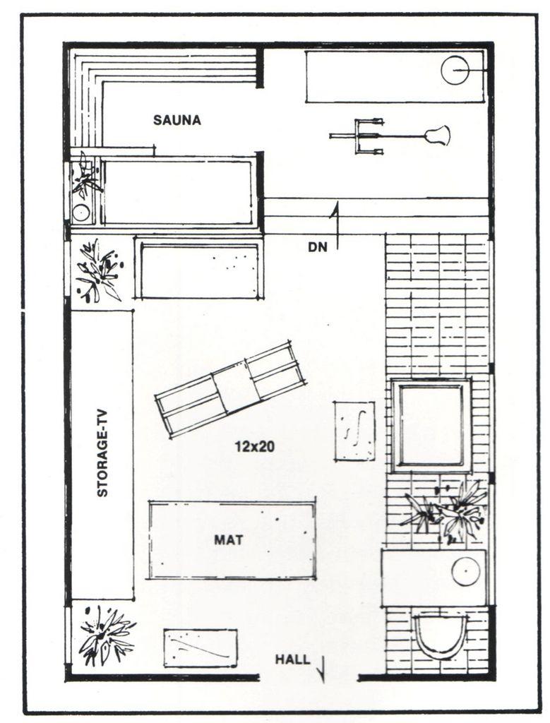 Room Design Floor Plan: Vinyl Exercise Room Floor Plan