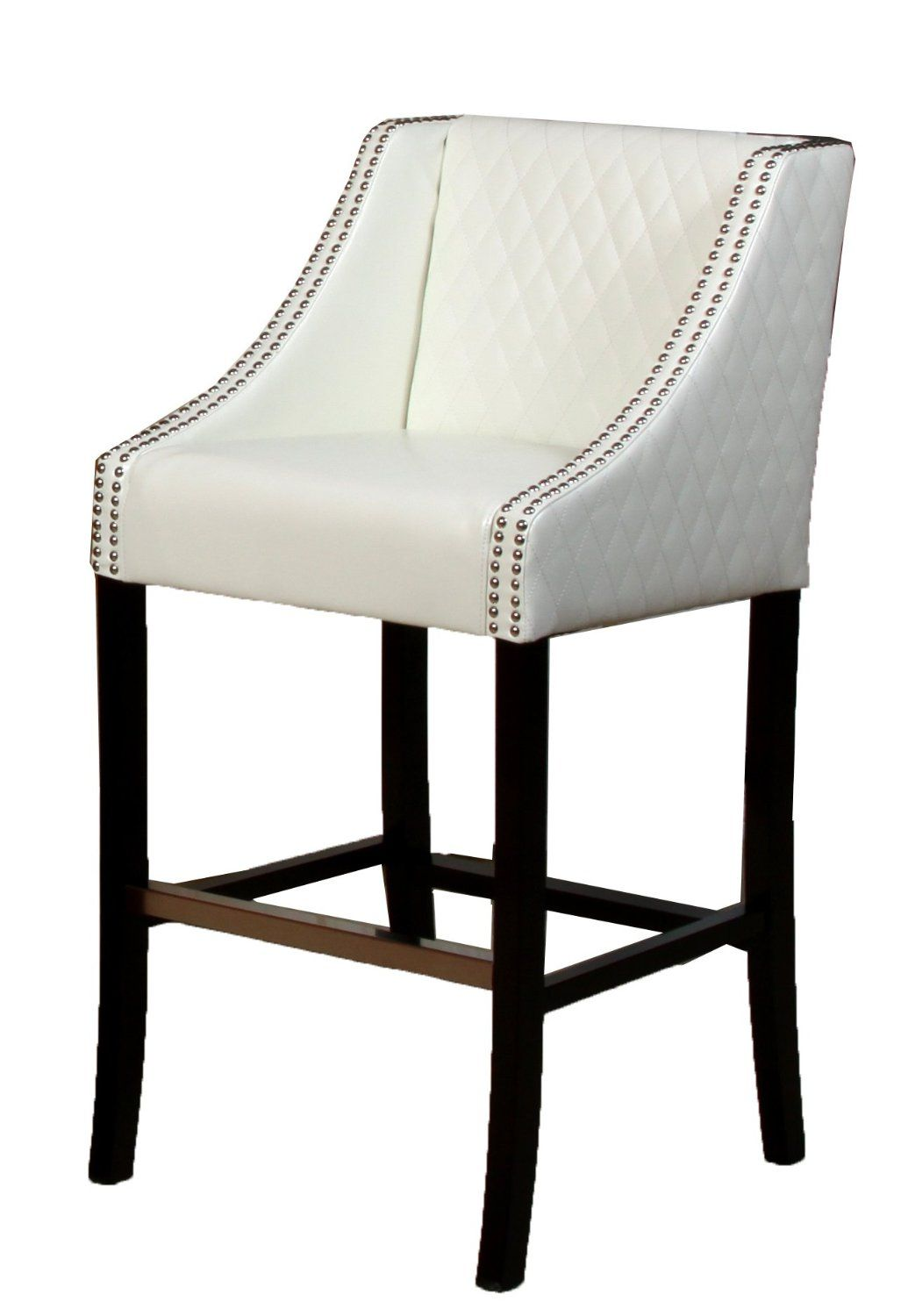 Amazon.com   Best Selling Milano White Quilted Leather Bar Stool ...