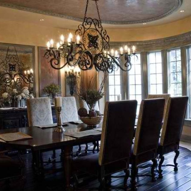 Mediterranean Style Dining Room Sets: Tuscan Dining Rooms
