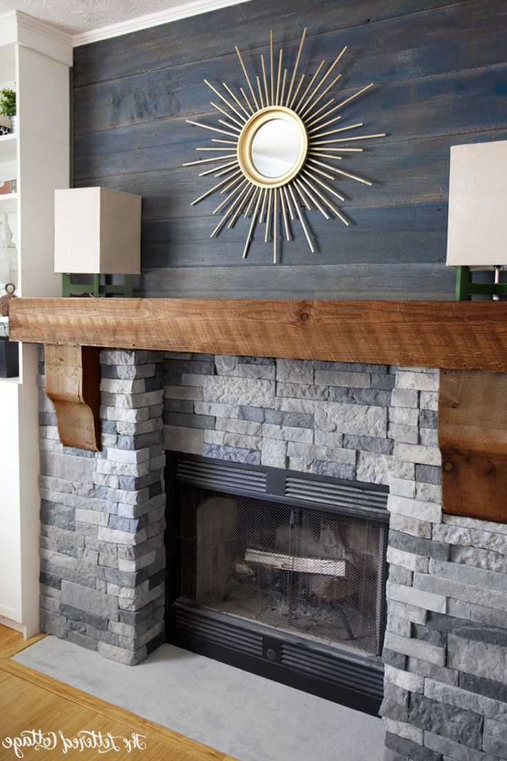 SognareALA Grey LedgerStacked Stone Panels Fireplaces Grey and