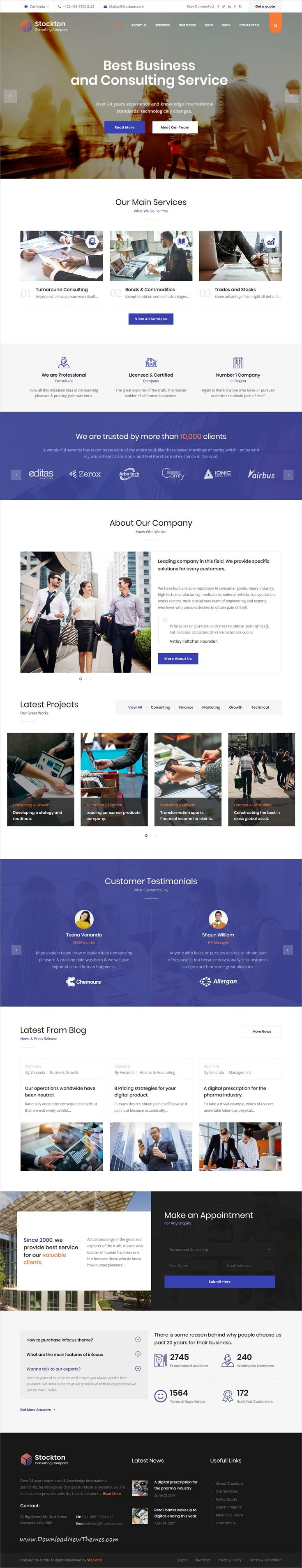 Stockton Is Clean And Modern Design Responsive Html Bootstrap Template For Business Consulting And Professi Consulting Business Legal Services Financial Firm