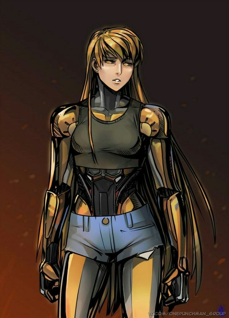 Genos As A Female One Punch Man Cute Anime Character Genderbend
