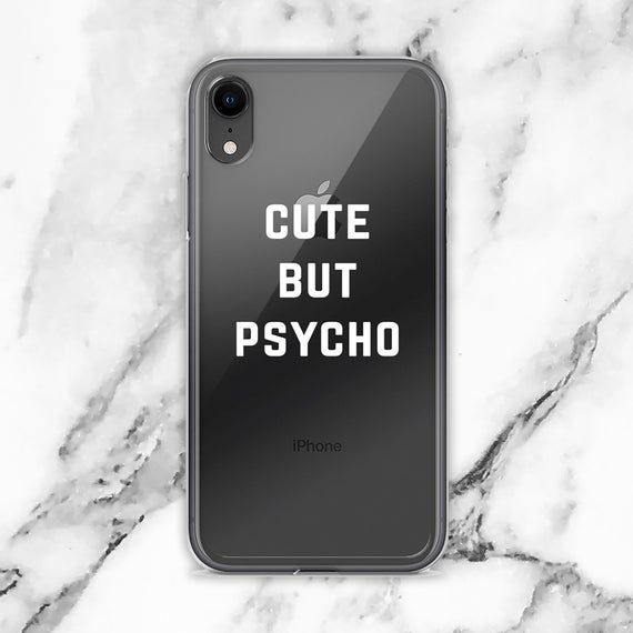 Cute But Psycho iPhone Case by directgifts Clear iphone
