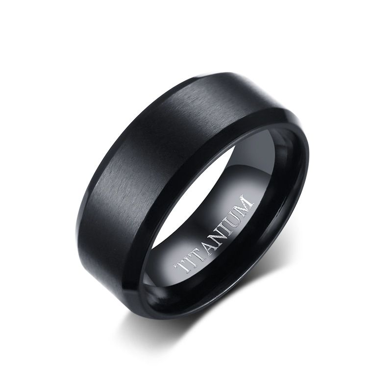 Wholesale Mens Black Titanium Wedding Bands Black titanium wedding