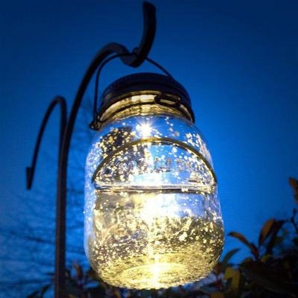Malibu Solar Mason Jar LED Lamp. Glass Firefly Jars That Light Up The  Garden Or Patio For Hours. Ambiant Lighting When Hanging Around The Home  And Great ... - Malibu Solar Mason Jar LED Lamp. Glass Firefly Jars That Light Up