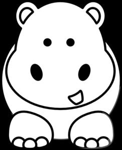 Style Guide Clker Cartoon Hippo Art Clip Art