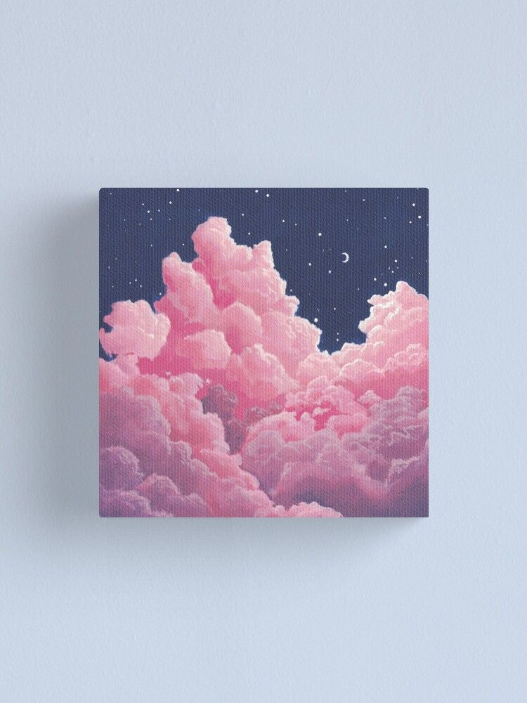 Cotton Candy Clouds in the Night Sky Canvas Print