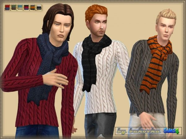 The Sims Resource: Sweater with Scarf by Bukovka • Sims 4 Downloads