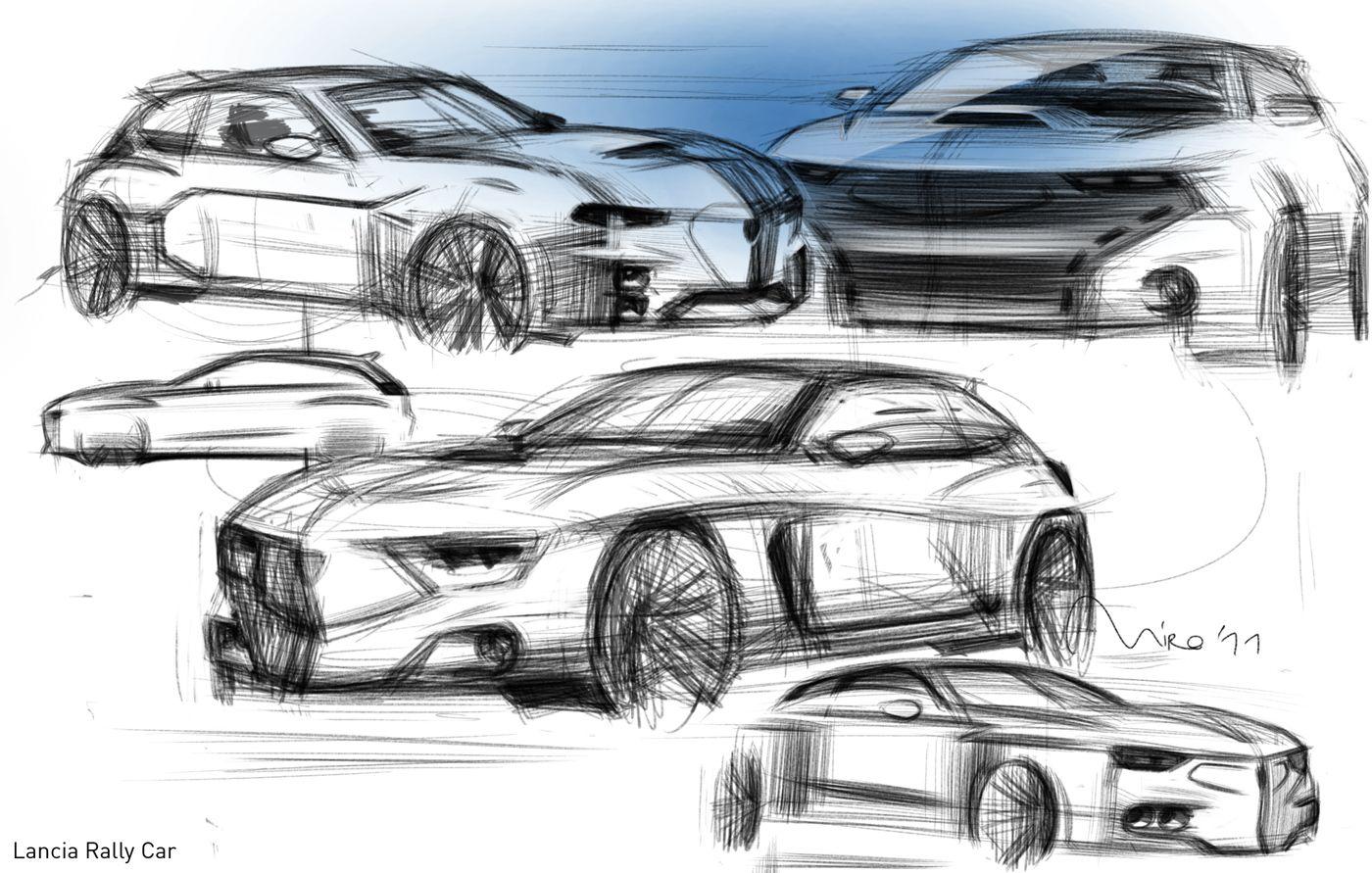 lancia-rally-car-sketch-05.jpg (1400×891)   Sketching & Rendering ...