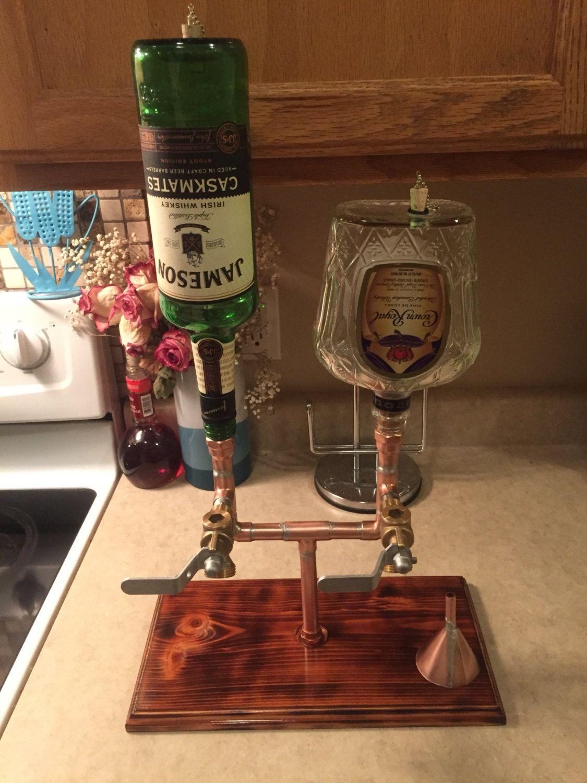 The Double Whiskey/Liquor Dispenser With Bottles | Ideas | Pinterest ...