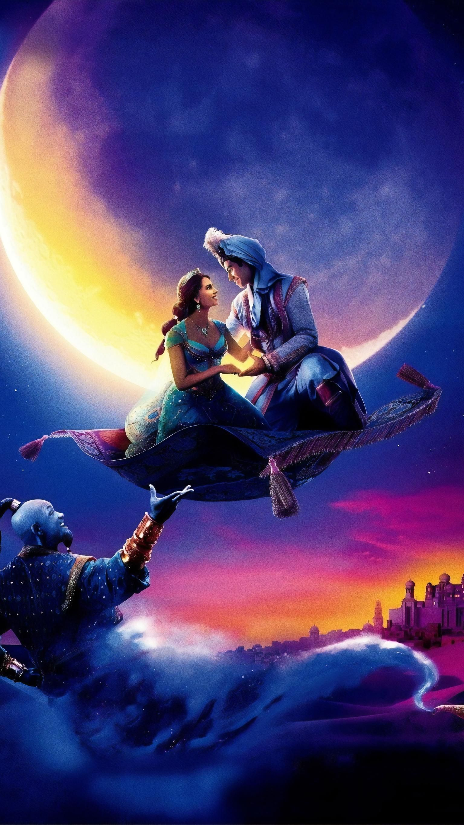 Cute Love Cartoon Wallpaper Hd Aladdin 2019 Phone Wallpaper Aladdin Wallpaper Disney