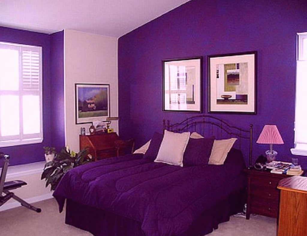 15 Decor Ideas Bedroom Colors For Newly Married Couples Trend Purple Bedroom Decor Purple Bedrooms Purple Bedroom Design