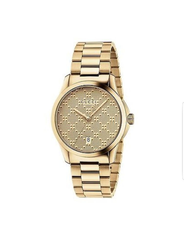 87f0da4a6d0 New Gucci G-Timeless Gold-Tone Stainless Steel Bracelet Unisex Watch  YA126461