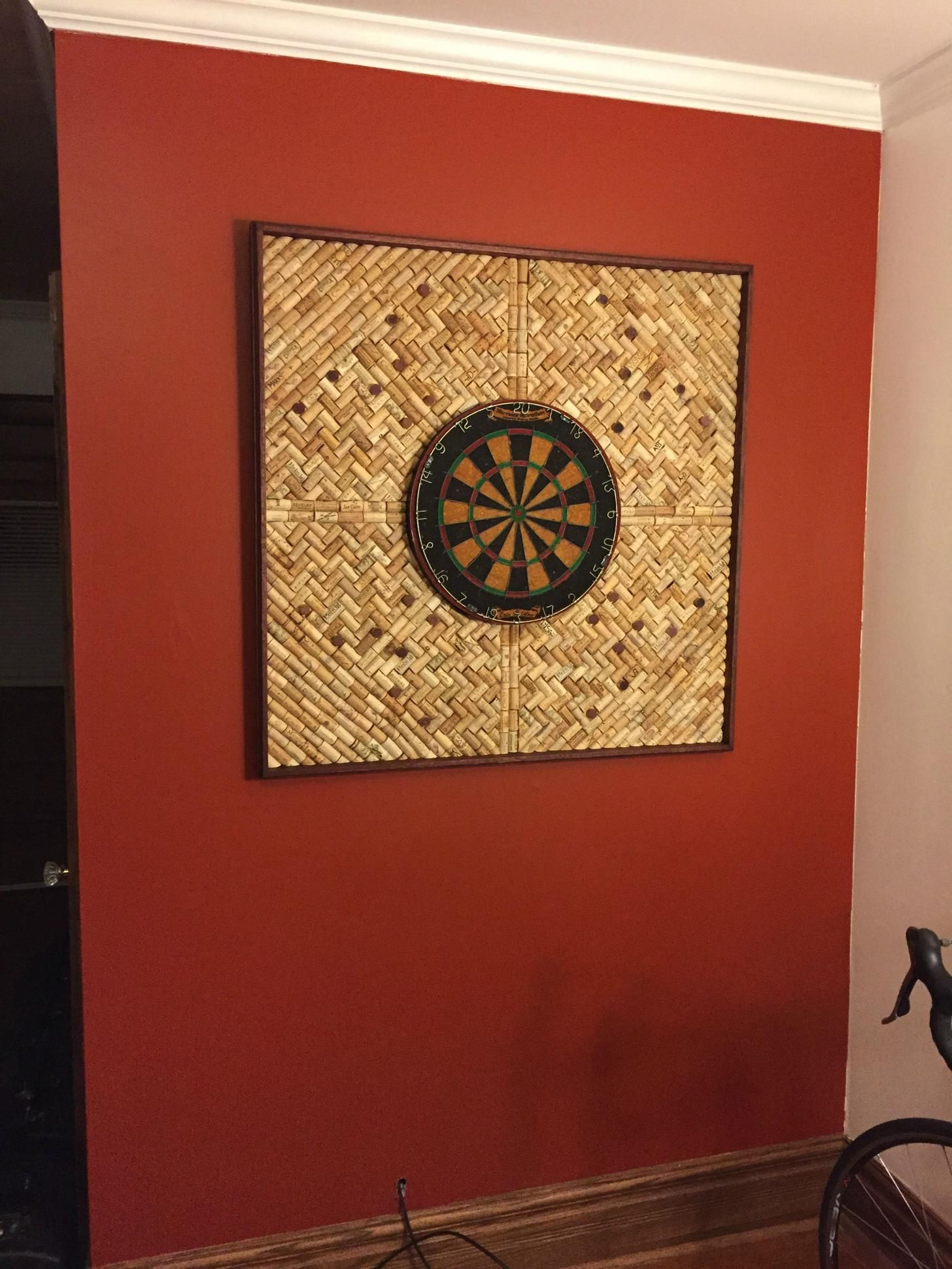 Diy Wine Cork Backed Dartboard Wine Cork Diy Wine Cork Crafts Wine Cork Projects