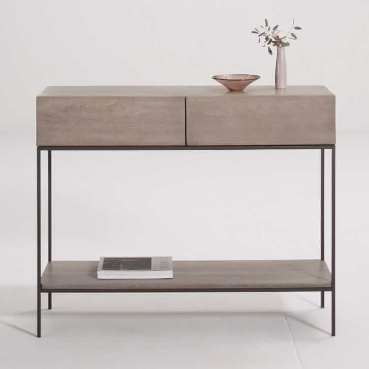 Metalwork Console Hot Rolled Steel Finish West Elm Sofa Table With Storage Modern Console Tables Basement Furniture