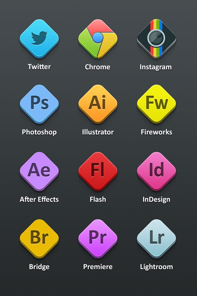 Adobe Icons Icons Fribly Web design freebies, Icon
