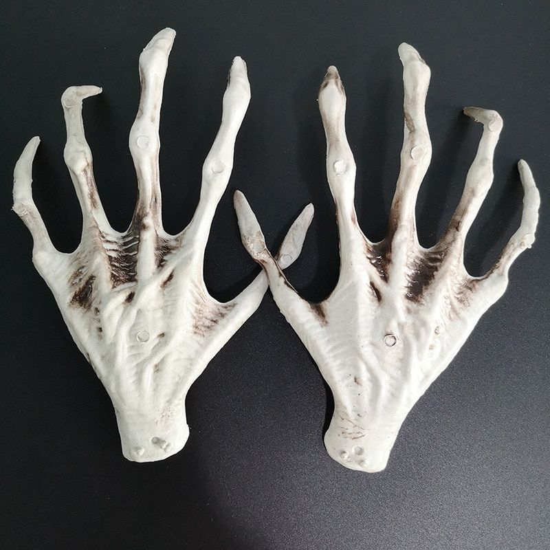 1 Pair Plastic Skeleton Ghost Hand Witch Hand Hand Bone
