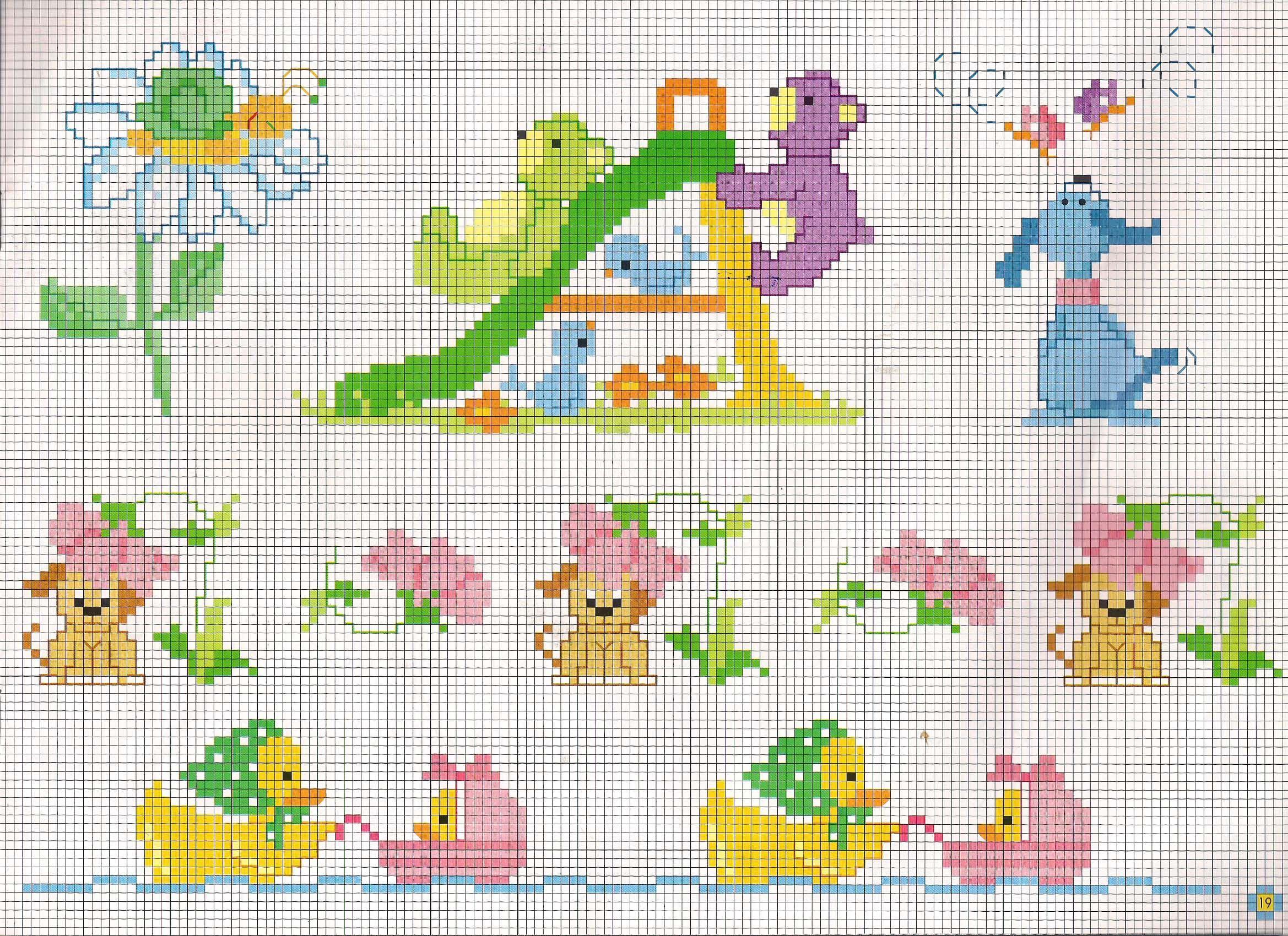 Piccoli animali punto croce bimbi che giocano allo scivolo for Animali con asciugamani