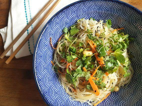 Asiatischer Glasnudelsalat vegan
