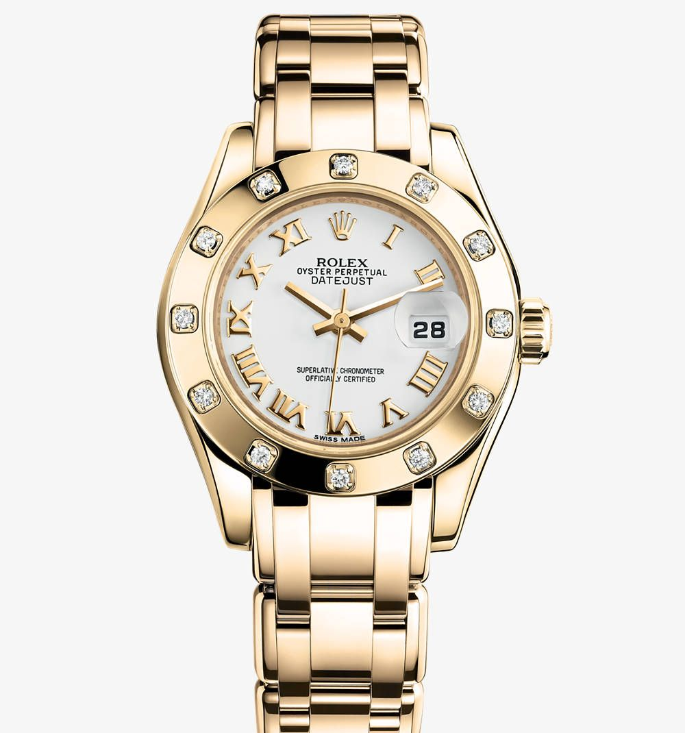 rolex pearlmaster oyster 29 mm yellow gold and diamonds movement perpetual mechanical self. Black Bedroom Furniture Sets. Home Design Ideas