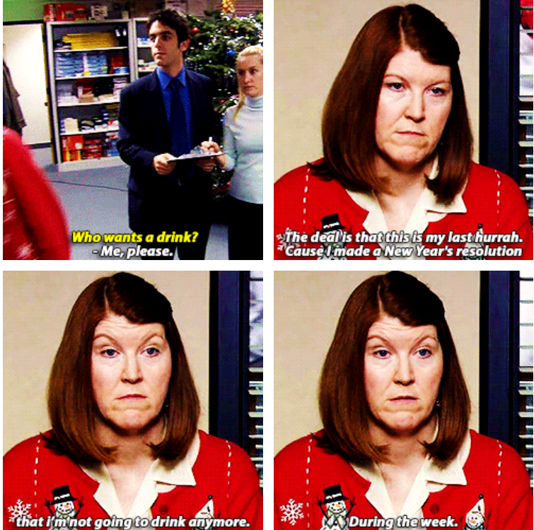 When Meredith Shared This Inspiring New Year S Resolution With Us Meredith The Office The Office Nbc Talking Heads