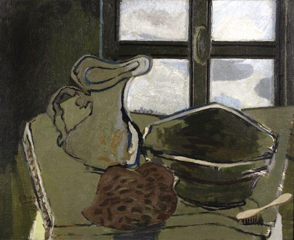 Georges Braque, Zelené umyvadlo, 1942, olej na plátně, 65 x 81 cm