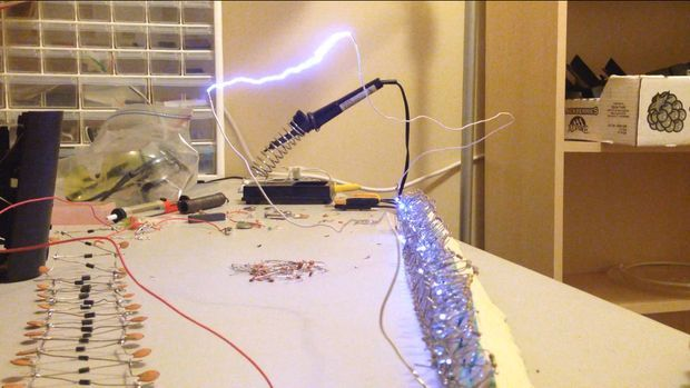 12v 180kv A Battery Powered Marx Generator And Introduction To Electronics Electronics Generation Tesla Coil